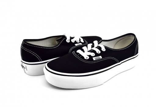 VANS AV8BLK BLACK AUTHENTIC PLATFOR  22-26.5