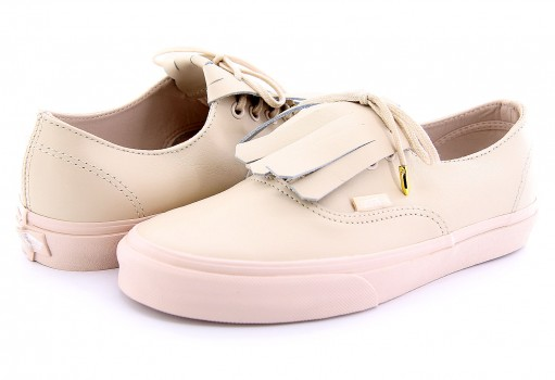 VANS DPFOES (LEATHER)WHISPERPINK/GOLD AUTHENTIC FRINGE  21.5-26.5