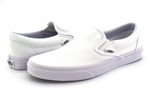 VANS EYEW00 CORE CLASSIC TRUE WHITE CLASSICS SLIP ON  A