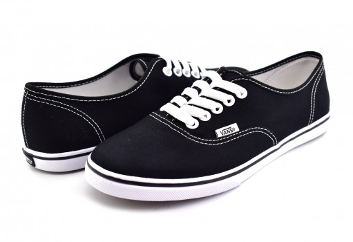 VANS GYQ6BT BLACK/TRUE WHITE AUTHENTIC LO PRO  21.5-26.5