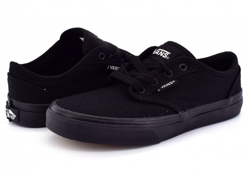 VANS KI5186 BLACK/BLACK (CANVAS) ATWOOD  16-24