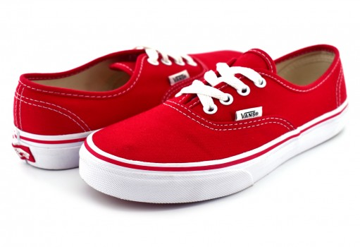VANS WWX6RT RED/TRUE WHITE AUTHENTIC CLASSICS  16-22