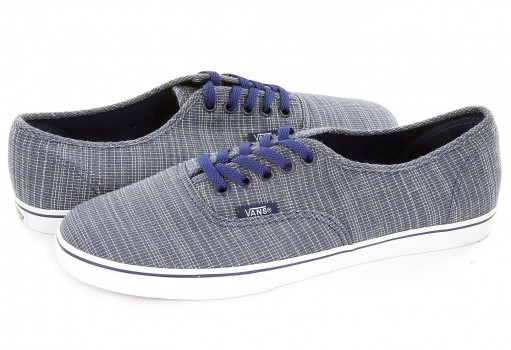 VANS XRNH1F (WOVEN CHAMBRAY) BLUE AUTHENTIC LO PRO  21.5-26.5