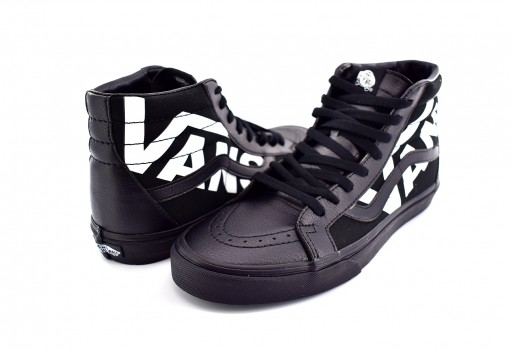 VANS XSBQW7 BLACK/TRUE WHITE SK8-HI REISSUE  25-31