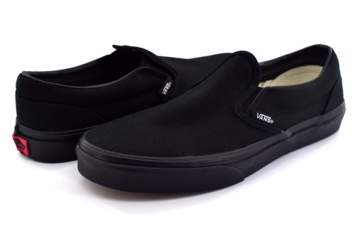 VANS ZBUENR BLACK CLASSIC SLIP ON  16-22