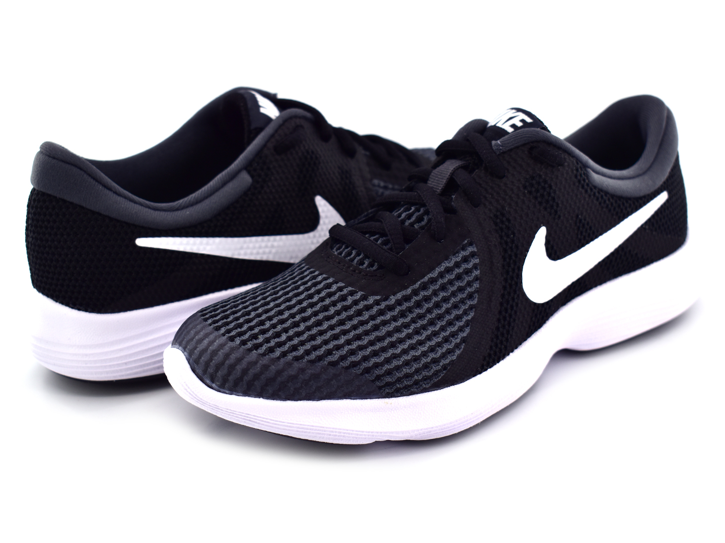 7f6713b95b2 NIKE 943309 006 BLACK WHITE ANTHRACITE REVOLUTION 4 (GS) 22.5