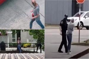 """EE.UU.: Mujer causa terror en las calles por parecer un """"zom..."""