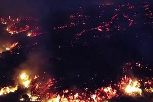 Imágenes de las enormes destrucciones provocadas por el volc...