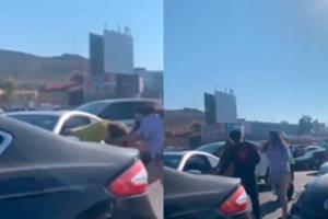 Video: mujeres protagonizan pelea en garita de Tijuana