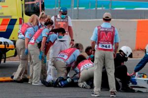 Muere piloto de 15 años al caer de su motocicleta en Supersp...