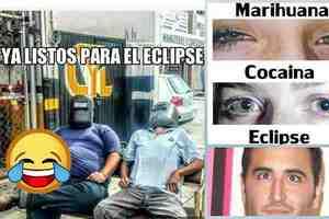 Así los memes durante el eclipse solar