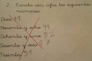 El ejercicio de matemáticas de un niño que dividió...