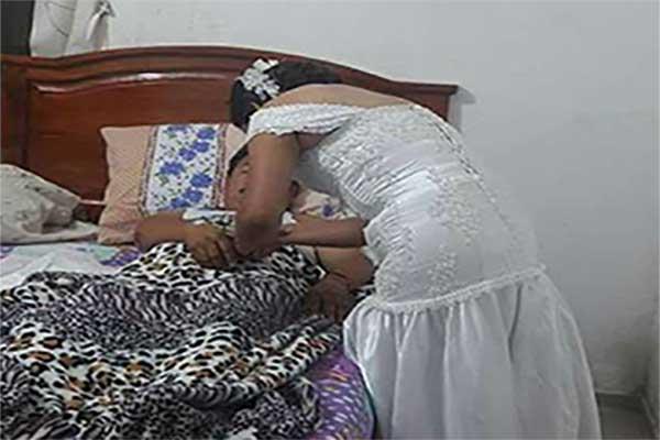 Enfermera abandona su boda para atender a un paciente