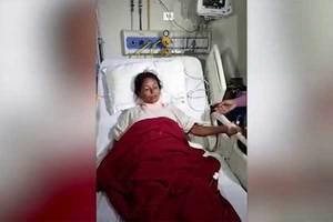 FUERTE VIDEO: Sobrevive con una barra de hierro que le entró...