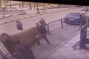 Policías egipcios atrapan a niño que cayó de tercer piso (Vi...