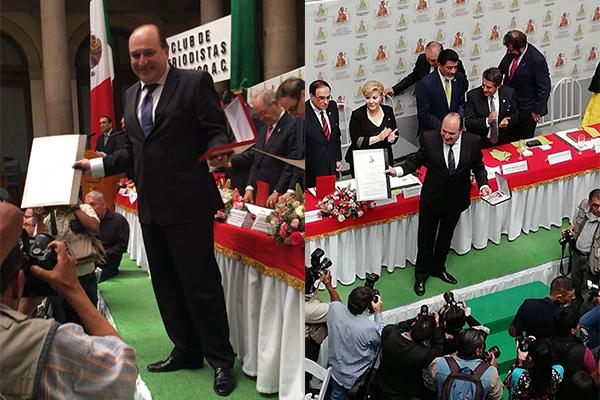 Víctor S. Baños recibe Premio Nacional de Periodismo en categoría de columna