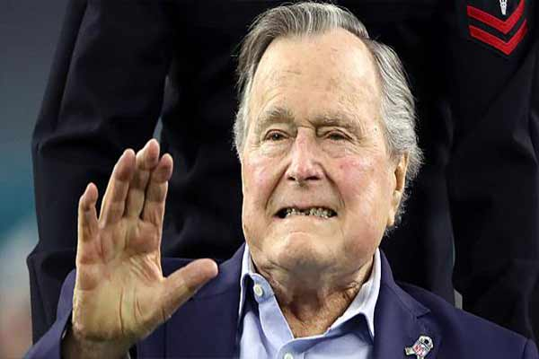 Hospitalizan al expresidente de EE.UU., George HW Bush