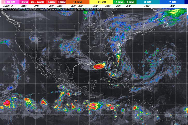 Pronostican posibles tormentas en Cancún
