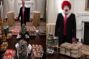 Trump invita hamburguesas a estudiantes y lo 'trollean'