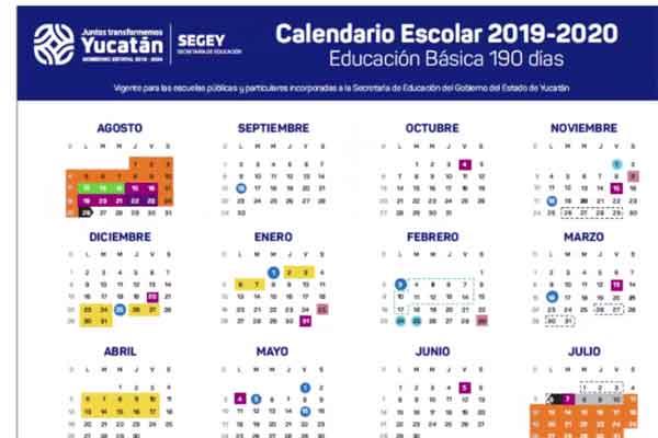 Calendario Julio Y Agosto 2020.Presentan Calendario Escolar 2019 2020 En Yucatan