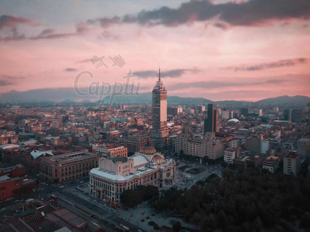 Fotografia con efecto miniatura de la ciudad de Mexico