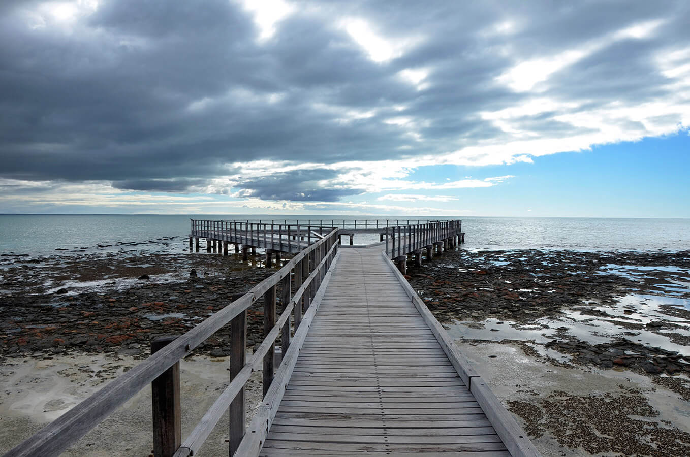 Pier at Shark Bay National Park Australia by Carrie Morgan