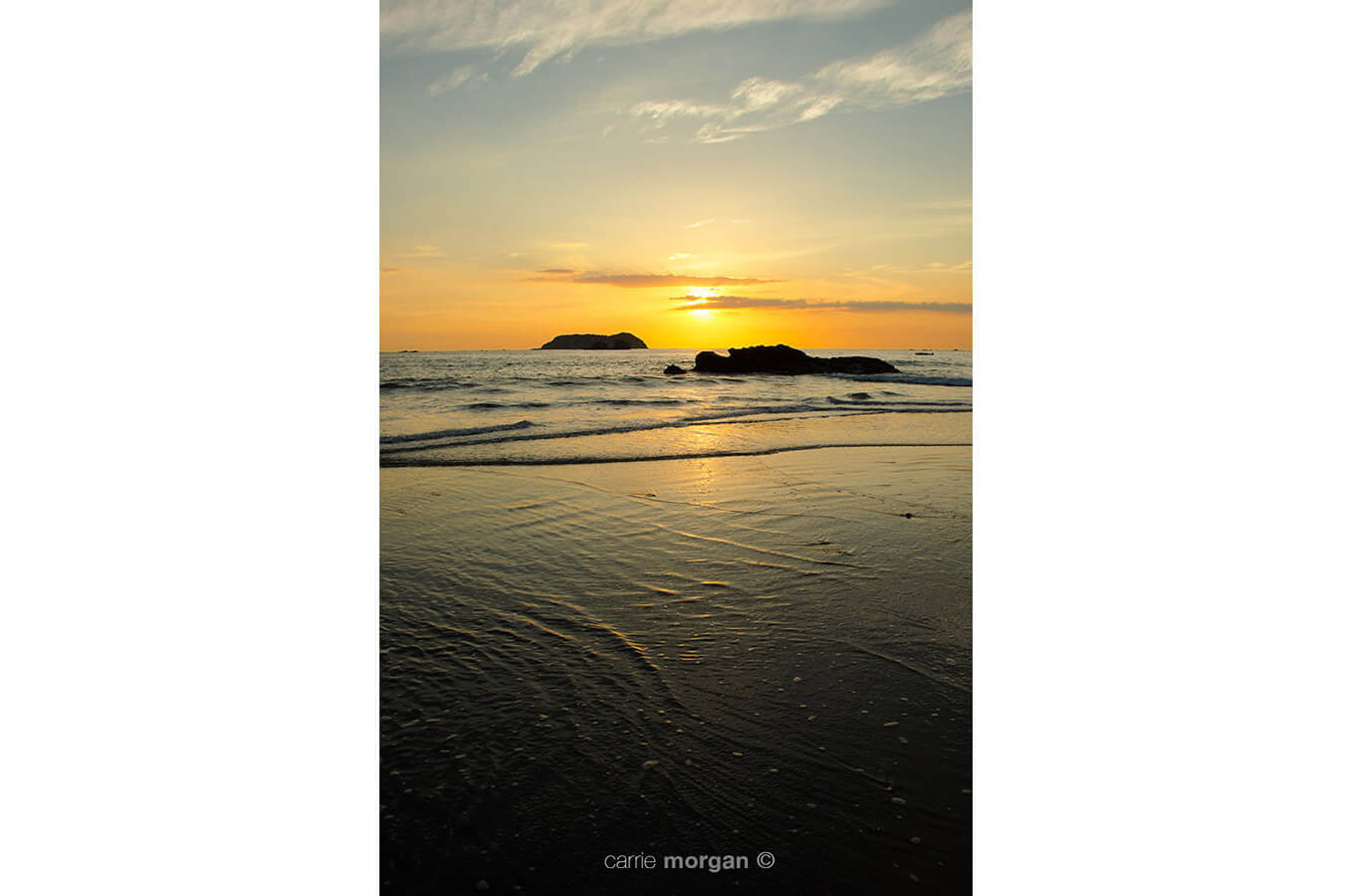 Sunset at Manual Antonio Costa Rica by Carrie Morgan