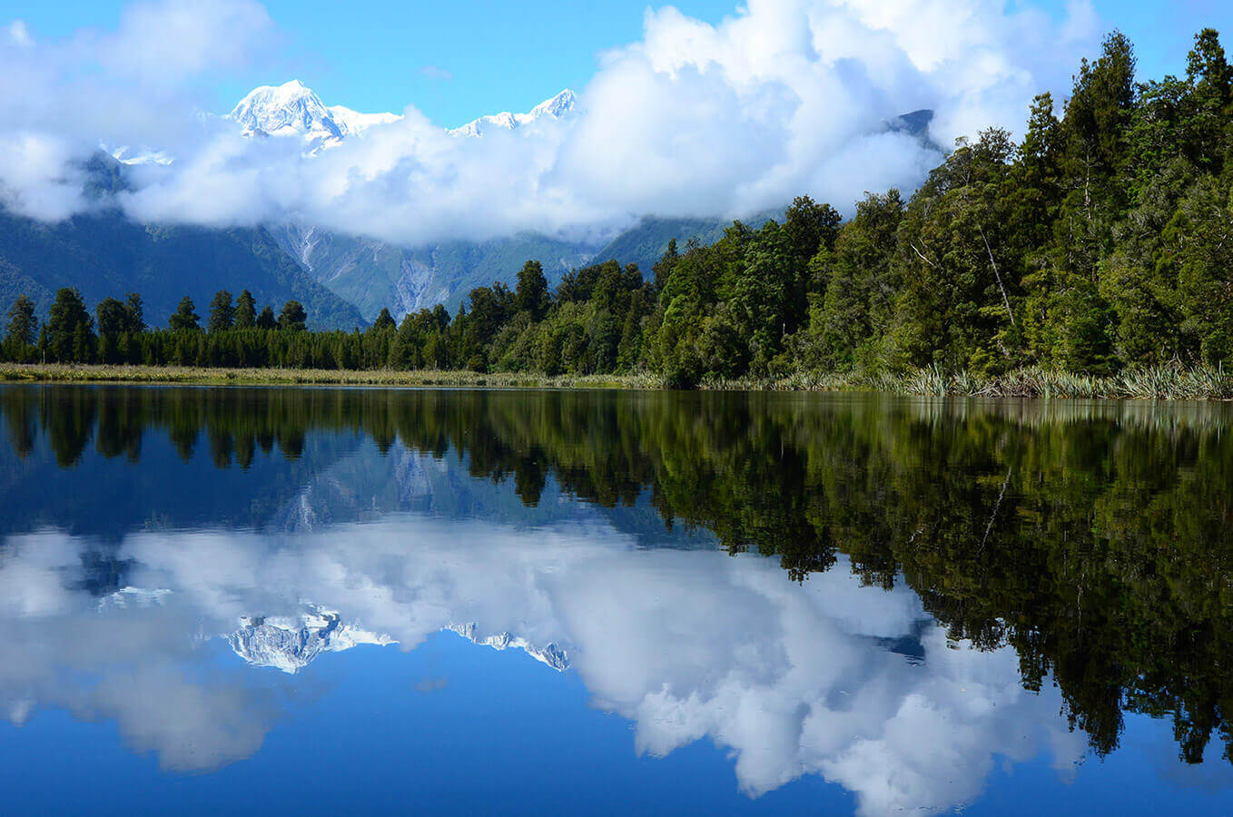 Lake Matheson New Zealand by Carrie Morgan