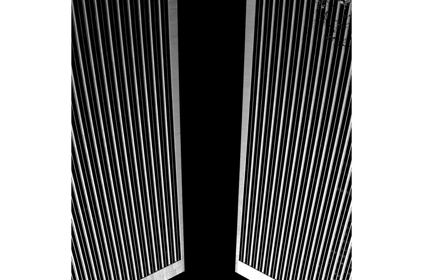 Abstract Black and White Architecture Photograph by Carrie Morgan