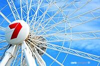 Brisbane Australia Ferris Wheel Photograph by Carrie Morgan