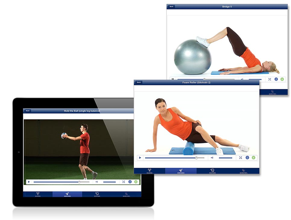 Rehabilitation Lower Limbs - Exercises -interface screenshot