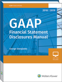 GAAP Financial Statement Disclosures Manual (2018-2019)
