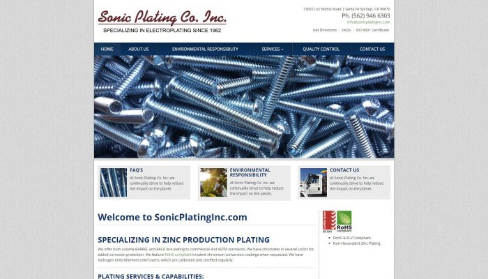Sonic Plating Co. Inc.