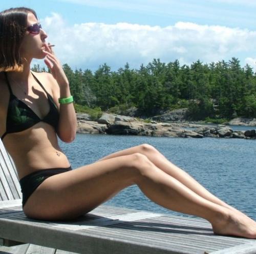 Pot Leaf Bikini Shoot