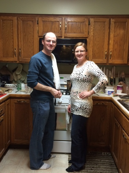 Mike loves to cook, while Kristia's the baker.