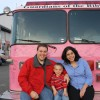 At the pink firetruck parade.