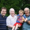 Celebrating Father's Day with Grandpa Steve and Grandpa Phil at our annual Father's Day barbecue.