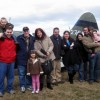 A walk through the vintage plane display after enjoying a family brunch.
