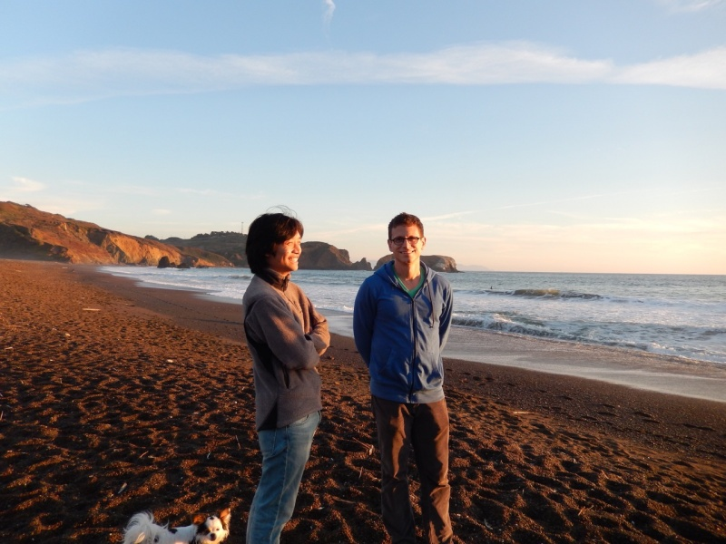Watching the waves at Fort Funston