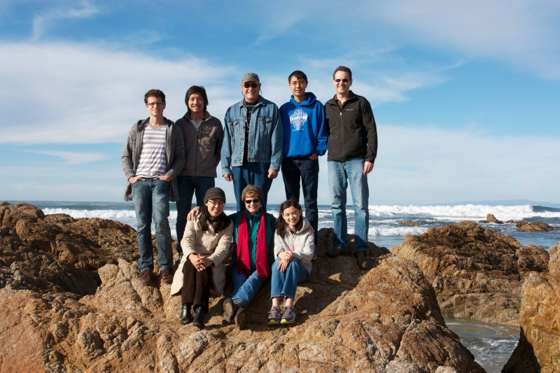 Theo's family in Monterey