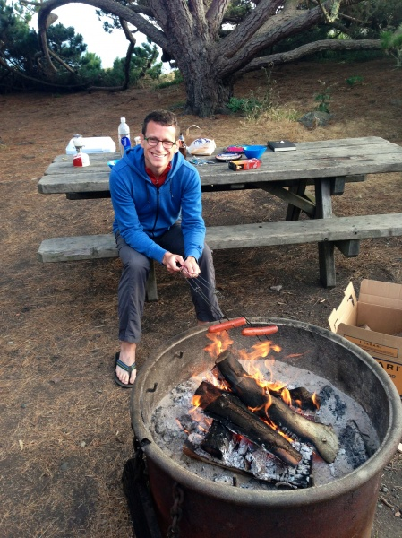 Camping by the ocean (and hot dogs)