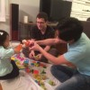 Squishing Play-Doh with our niece, Ava