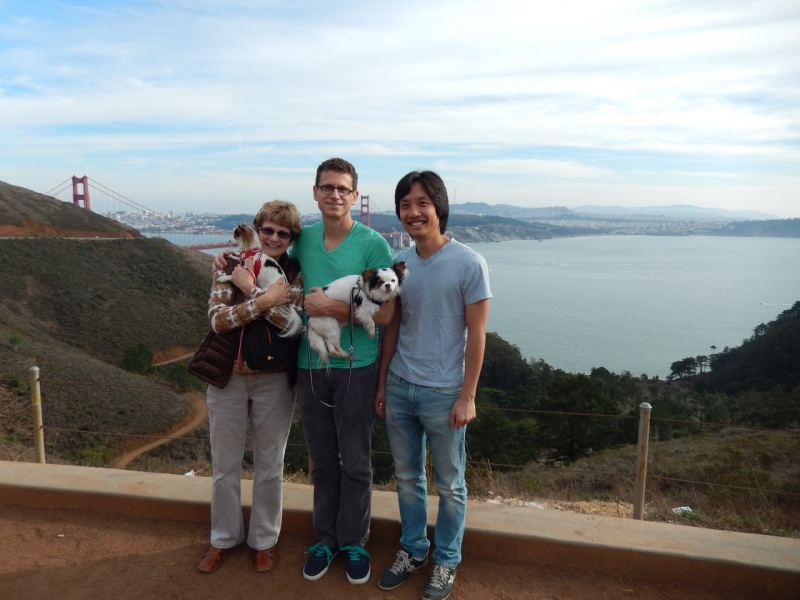 With Theo's mom on Hawk Hill