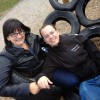 Hanging out on tire swings