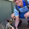 Jay making friends in Australia