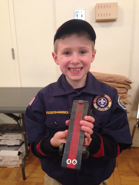 Brandon loves going to cub scouts.