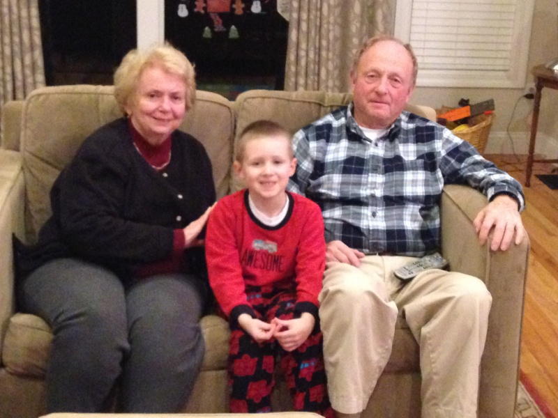 Visits with Grandma & Grandpa are the best.