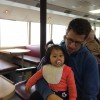 Taking the ferry to San Francisco with Alivia