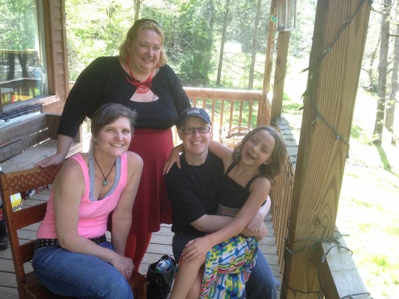 A recent visit from Kestin's birthmother