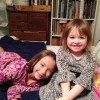With cousin Caitlin